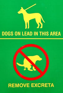 park regulations2: park signs on responsible dog care