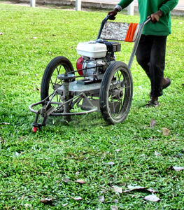 rustic grass cutter2b: basic Cambodian rotary mower