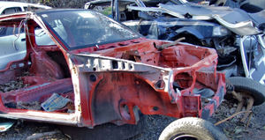 at the wrecker's yard12: vehicle wreckers salvage yard