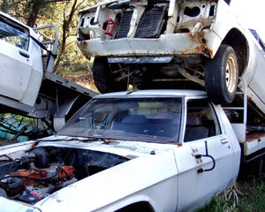 at the wrecker's yard10: vehicle wreckers salvage yard
