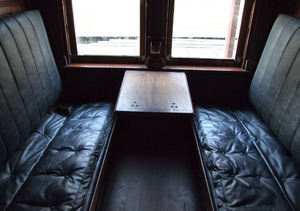 sleeping compartment3: dark compartment in long journey railway sleeping carriage