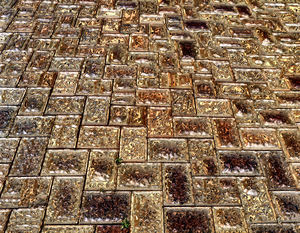 streets paved with gold3: abstract background, texture, patterns and perspectives