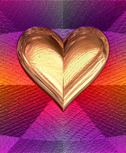 heart of gold4: abstract heart-shaped background, texture, patterns and perspectives