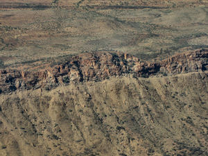 down below9: central Australian terrain seen from above