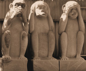 wise monkeys1: three wise monkeys statues