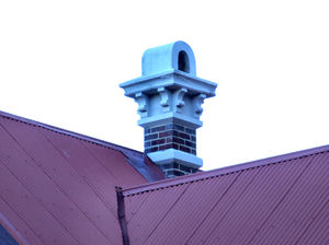 blue chimney & roof angles1: historic buildings, roofs with old style chimney