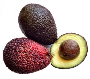 ripe avocado variety1b: ripe avocados - cross section and seed