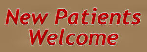 plastic red letter welcome: 3-D surgery sign promoting welcome for new patients