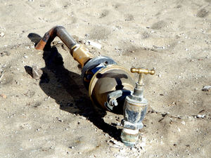 temporary water supply1: sandy building site temporary water supply
