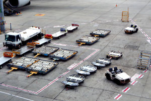 equiped & ready1: airport tarmac equipment, vehicles and trolleys