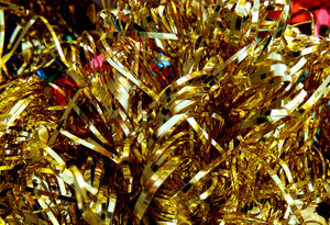 not all that glitters7: Christmas tinsel decorations