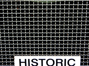 historic radiator grille1: abstract image of vintage car radiator grille