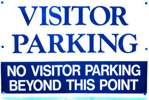 visitor here: outsider vehicles not permitted beyond here