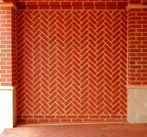 zigzag wall1: zigzag patterned wall