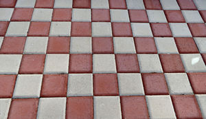 paving patterns11: pavement area with patterned surfaces