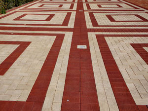 paving patterns16: pavement area with patterned surfaces