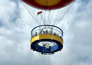 up, up on high6: second largest tethered helium balloon in the world - Singapore 2006-2008 - up to 180 metres/48 stories high