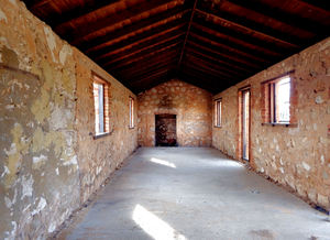 barred cottage10: pioneer settler's cottage - partially renovated and barred - interior