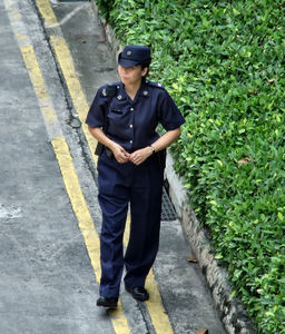 police presence6: Singapore National Day police deployment - foot patrol