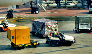 airport preparation2: airport tarmac vehicles and trolleys – preparation for approaching flight