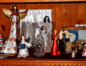 Christmas angel depictions1: table top Christmas angel figurines