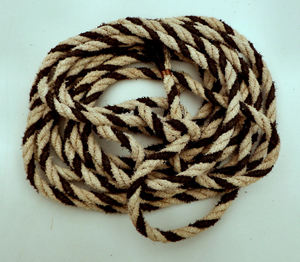 coiled rope1: coiled or bunched rope showing rope ends