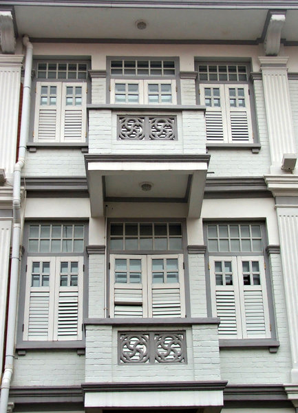 window colours: colourfully painted Chinese windows and traditional window shutters