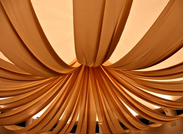 fabric folds: fabric ceiling lighting decoration