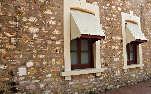 historic window: historic arched window