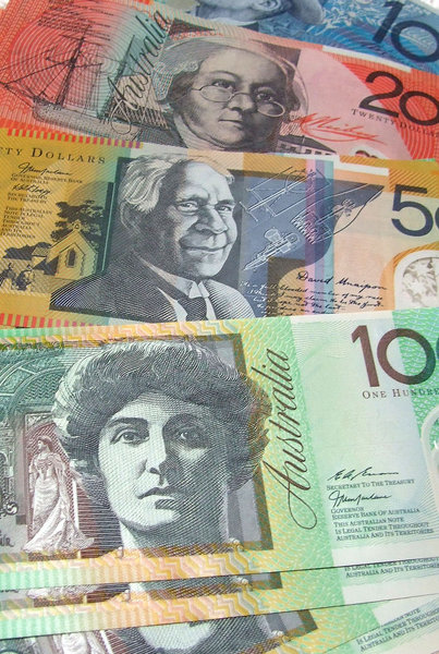 Aus currency: Australian currency notes