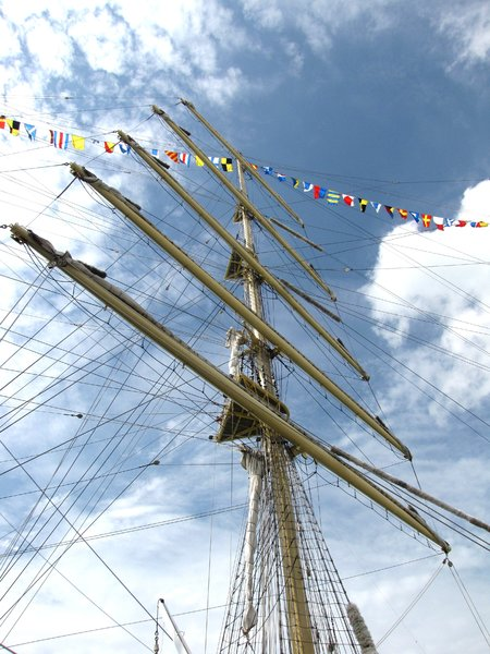 tall ships: tall sailing ship from Russia