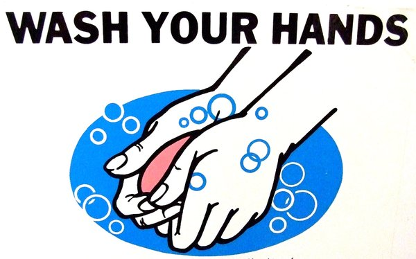 handwash: hygiene sign for washing hands