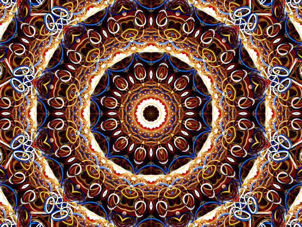 stretch rubber mandala: abstract backgrounds, textures, patterns, geometric patterns, kaleidoscopic patterns, circles, shapes and  perspectives from altering and manipulating images
