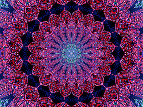 Persian red and blue layers: abstract backgrounds, textures, patterns, geometric patterns, kaleidoscopic patterns, circles, shapes and  perspectives from altering and manipulating image