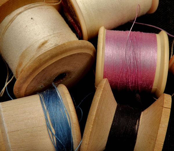 by a thread5: a variety of cotton reels with cotton thread