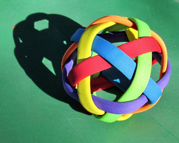hollow strap ball: hard straps special children's ball