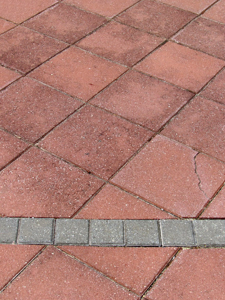 angled paving: footpath of angled paving bricks