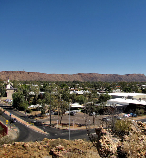 A town like Alice3: looking out over the central Australian township of Alice Springs