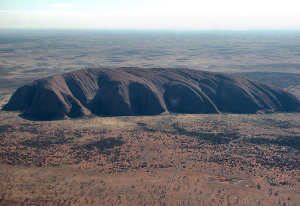 aerial angles on Uluru13: central Australian monolith - Uluru formerly known as Ayers Rock - special government permit required for all commercial use of this image