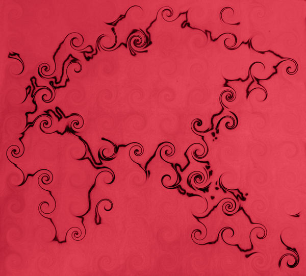 curls and twirls world1: abstract mapping background, texture, patterns and perspectives