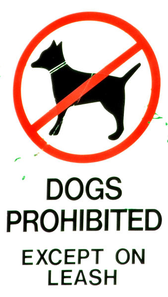 doggy exceptions: dogs prohibited with exceptions