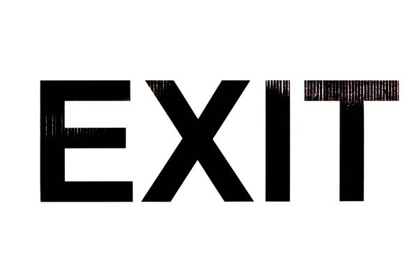 the way out1: sign indicating exit