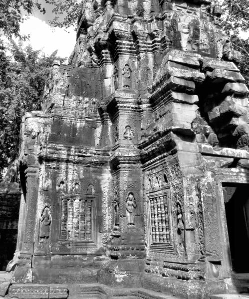 temple decorations15: artistic decorative carvings at Cambodia's Angkor Wat temple complex