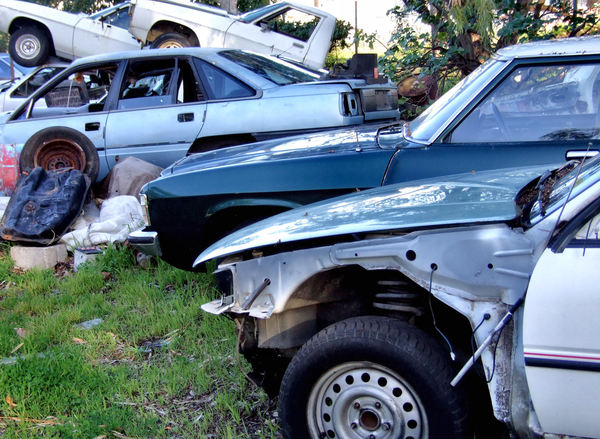 at the wrecker's yard9: vehicle wreckers salvage yard