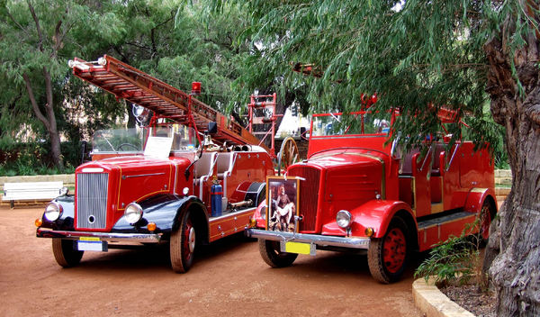 vintage vehicles3: display of historic fire engines