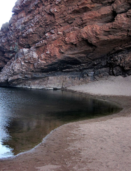 rocky gorge pool3: central Australian rocky gorge and small water pool