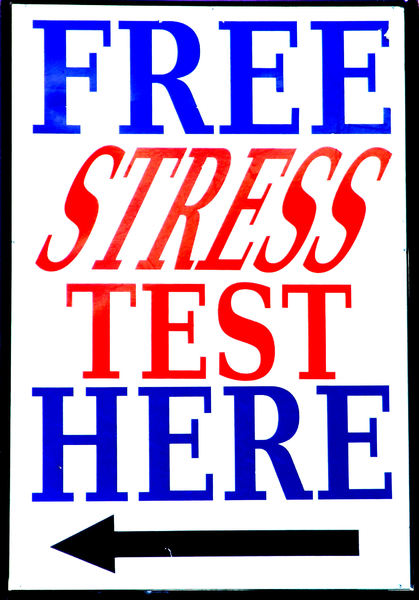 don't stress: sign offering free stress tests - what's the catch?
