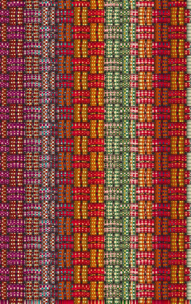 Christmas color weave3: abstract background, texture, patterns and perspectives