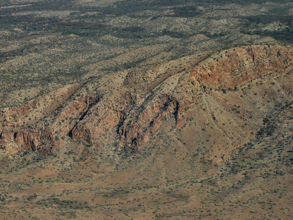 inland terrain11: central Australian terrain seen from above