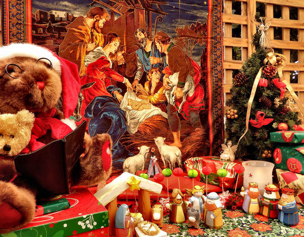 Christmas - the Big Picture10: Christmas gifts and nativity scenes showing the bigger picture of Christmas